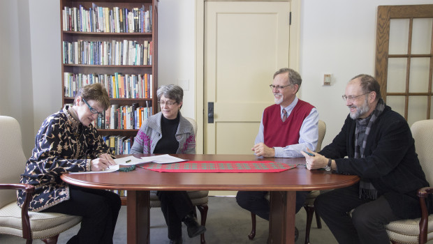 This Monday, Islamic Studies professors Benjamin Hegeman and Don Little, along with President Shirley Mullen and Dean of the College, Linda Mills-Woolsey officially signed a partnership with the Lilias Trotter […]